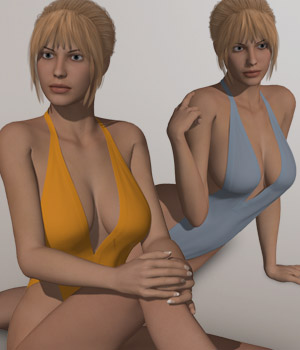One Piece Bikini I for V4A4G4S4Elite and Poser 3D Figure Assets 3D-Age