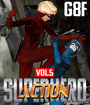 SuperHero Action for G8F Volume 5 3D Figure Assets GriffinFX