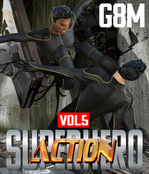 SuperHero Action for G8M Volume 5 3D Figure Assets GriffinFX
