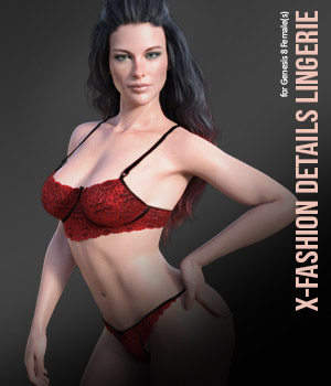 X-Fashion Details Lingerie for Genesis 8 Females 3D Figure Assets xtrart-3d