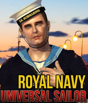 Universal Sailor - Royal Navy 3D Figure Assets Cybertenko