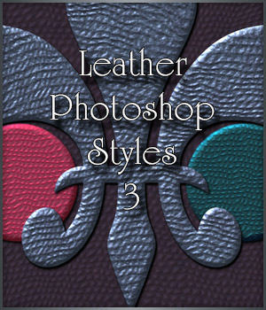 Leather Photoshop Styles 3 2D Graphics antje