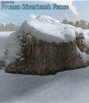 3D Scenery: Frozen Riverbank Fence 3D Models ShaaraMuse3D