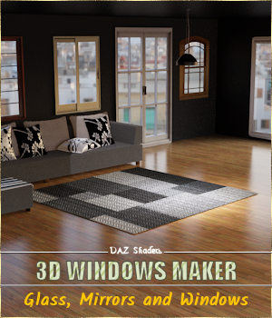 3D Windows Maker - DAZ Iray Shaders 3D Figure Assets 3D Models Cyriona