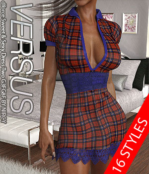 VERSUS - dforce Sweet & Sexy Dress Two G3FG8F 3D Figure Assets Anagord