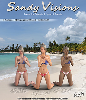 WM's Sandy Visions - Poses for Genesis 2, 3 and 8 Female 3D Figure Assets WiwimaX