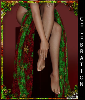 Celebration for Orchidea Drapes 3D Figure Assets sandra_bonello