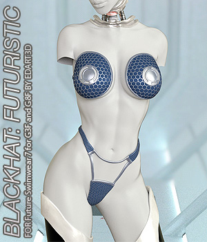 BLACKHAT:FUTURISTIC - Future Swimwear 7 for G3F and G8F 3D Figure Assets Anagord