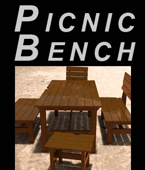 Picnic bench - Extended License 3D Game Models : OBJ : FBX 3D Models Extended Licenses imagebos