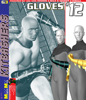 MMKBG3 Gloves 012 3D Figure Assets MightyMite