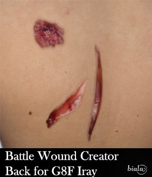 Battle Wound Creator Back Torso Iray Version for G8F 3D Figure Assets biala