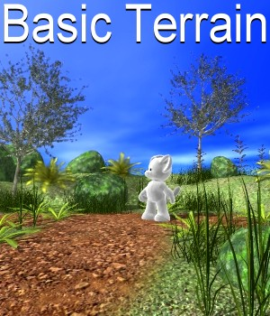 Basic terrain Poser 3D Models JeffersonAF