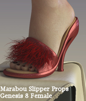 Marabou Slipper for Genesis 8 Female 3D Figure Assets Karth