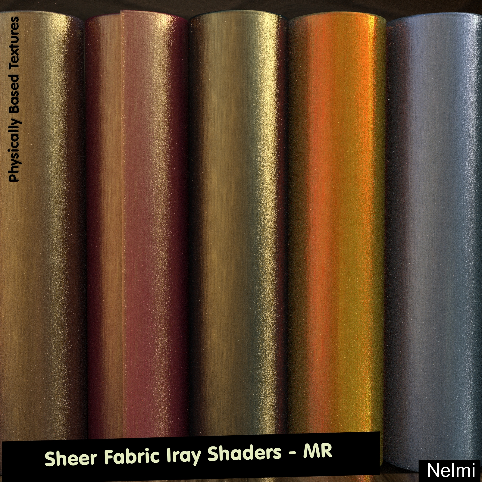 Sheer fabric Iray Shaders - Merchant Resource 3D Figure Assets