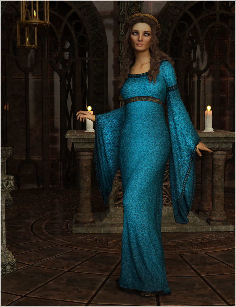 Feminine For dForce Camilla Medieval Gown by Belladzines