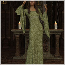 Feminine For dForce Camilla Medieval Gown image 2