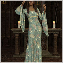 Feminine For dForce Camilla Medieval Gown image 3