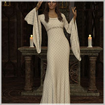 Feminine For dForce Camilla Medieval Gown image 4