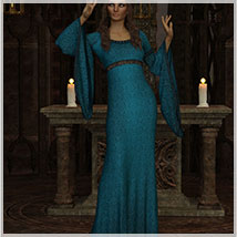 Feminine For dForce Camilla Medieval Gown image 5