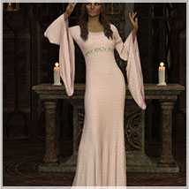 Feminine For dForce Camilla Medieval Gown image 6
