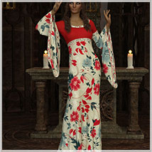 Feminine For dForce Camilla Medieval Gown image 7