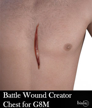 Battle Wound Creator Chest G8M 3D Figure Assets biala