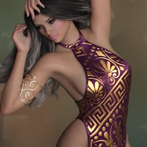 7th Ave: dForce Sexy Loin Dress for Genesis 8 Females image 2