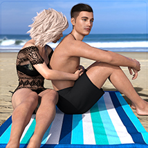 Z Holiday Romance - Couple Poses for Genesis 3 and 8  image 7