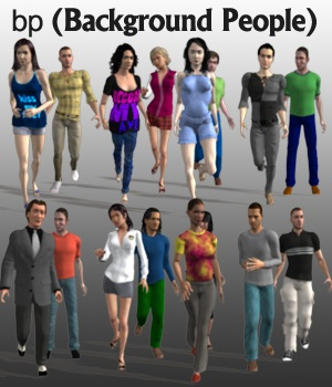 Background People - Extended License 3D Models Extended Licenses greenpots