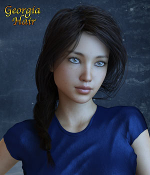 Georgia Hair For G3 G8 Daz 3D Figure Assets RPublishing