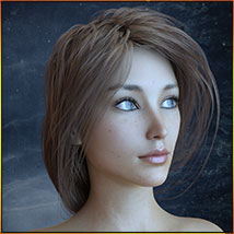 Georgia Hair For G3 G8 Daz image 5