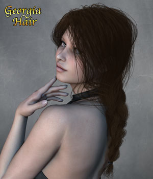 Georgia Hair for V4 M4 Poser 3D Figure Assets RPublishing