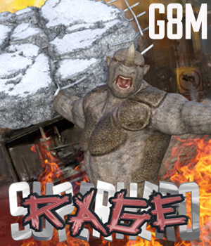 SuperHero Rage for G8M Volume 1 3D Figure Assets GriffinFX