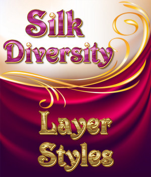 Silk Diversity PS Layer Styles 2D Graphics Merchant Resources fractalartist01