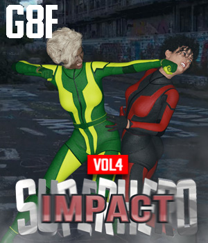 SuperHero Impact for G8F Volume 4 3D Figure Assets GriffinFX