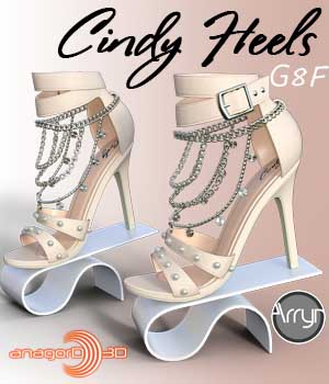 Cindy Heels and Jewel G8F 3D Figure Assets Arryn
