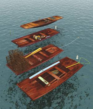 Chinese River Boats For Vue 3D Models forester