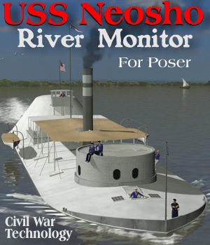 USS Neosho River Monitor 3D Models Michael_C