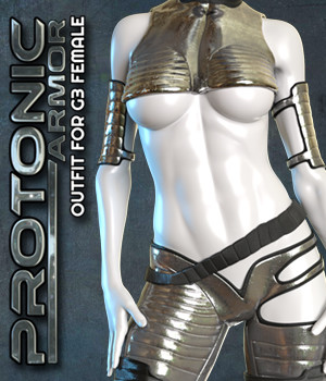 Exnem Protonic Armor for Genesis 3 Female 3D Figure Assets exnem