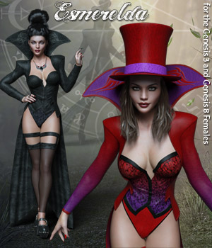 Esmerelda for Genesis 3 and Genesis 8 Females 3D Figure Assets RPublishing