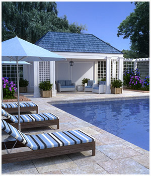 Pool Scene for Poser and DAZ Studio 3D Models RPublishing