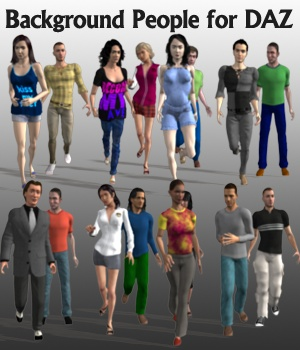 Background People for DAZ 3D Models greenpots
