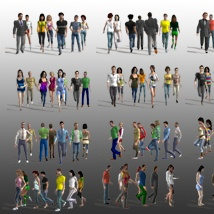 Background People for DAZ image 1