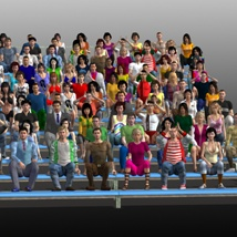 Background People for DAZ image 7
