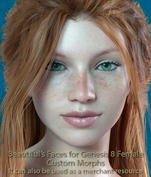 Beautiful faces for G8 pack 3D Figure Assets bu_es