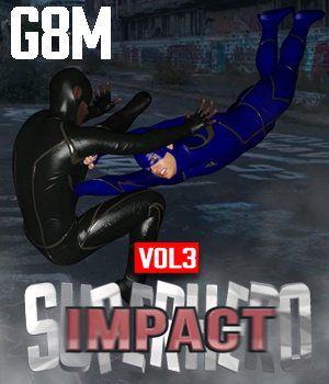 SuperHero Impact for G8M Volume 3 3D Figure Assets GriffinFX