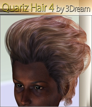 Quariz Hair 4 3D Figure Assets 3Dream