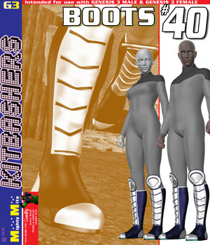 MMKBG3 Boots 040 3D Figure Assets MightyMite