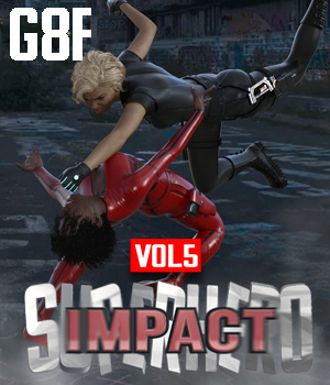 SuperHero Impact for G8F Volume 5 3D Figure Assets GriffinFX