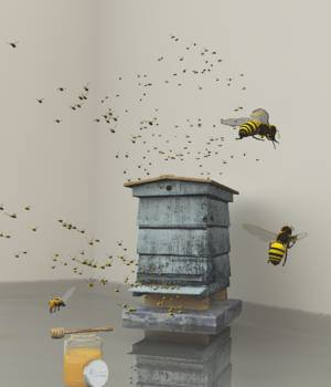 Honey Bee Set For Vue 3D Models forester